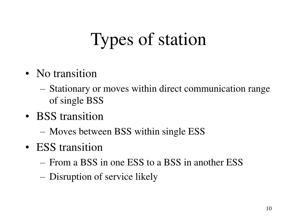 Types of station