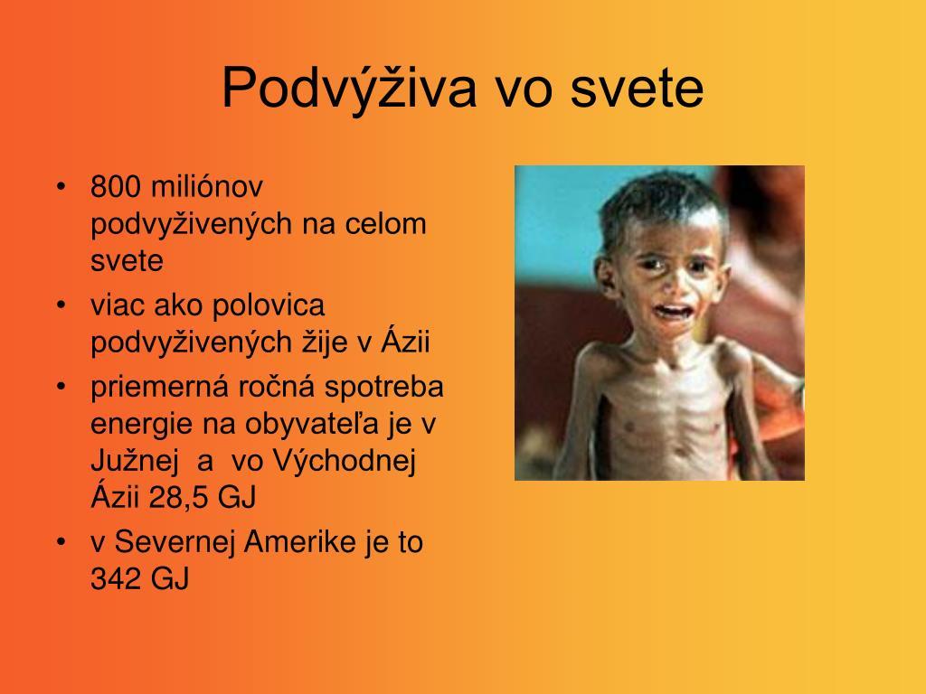 Podvýživa vo svete