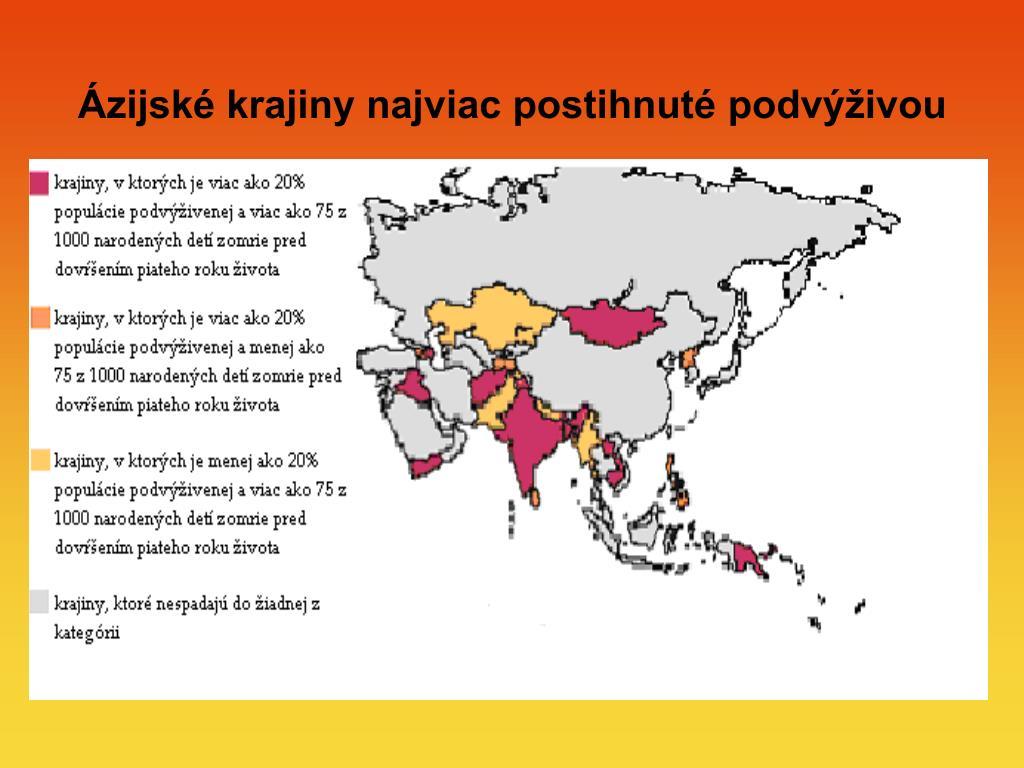 Ázijské krajiny najviac postihnuté podvýživou
