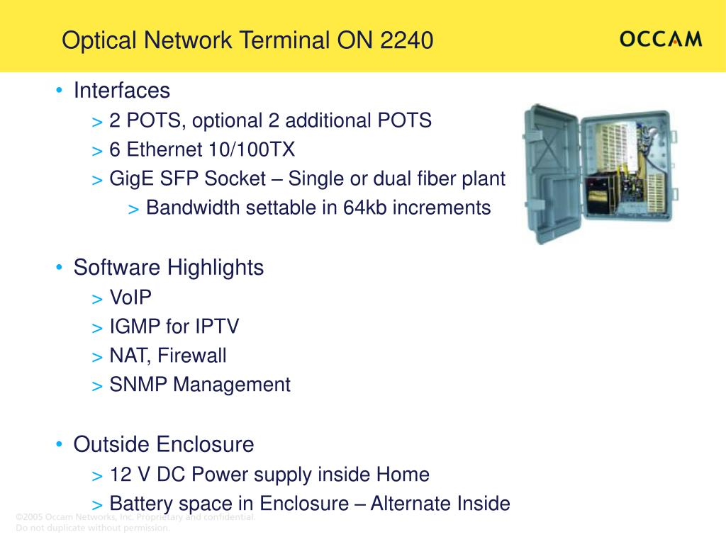 Optical Network Terminal ON 2240
