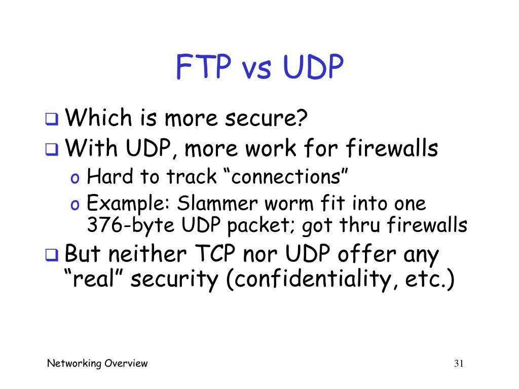 FTP vs UDP