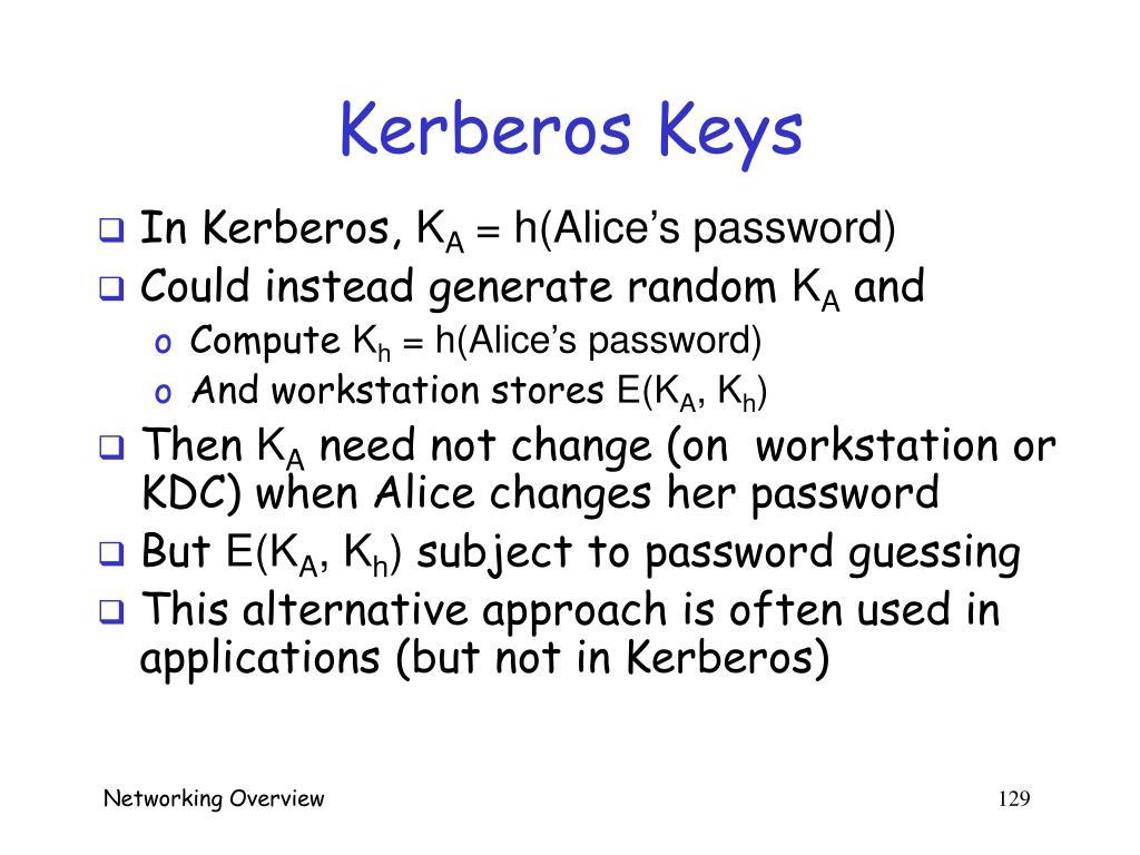 Kerberos Keys