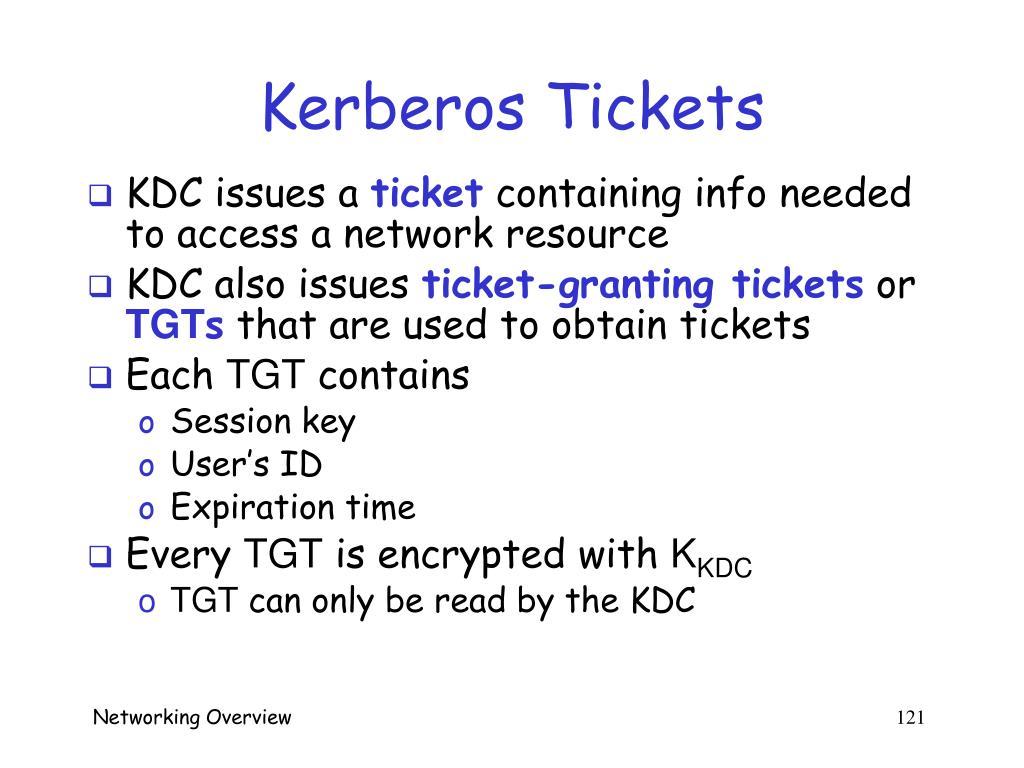 Kerberos Tickets