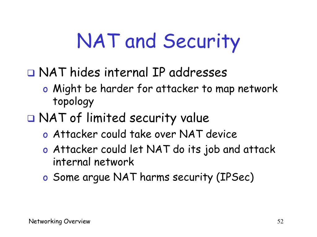 NAT and Security