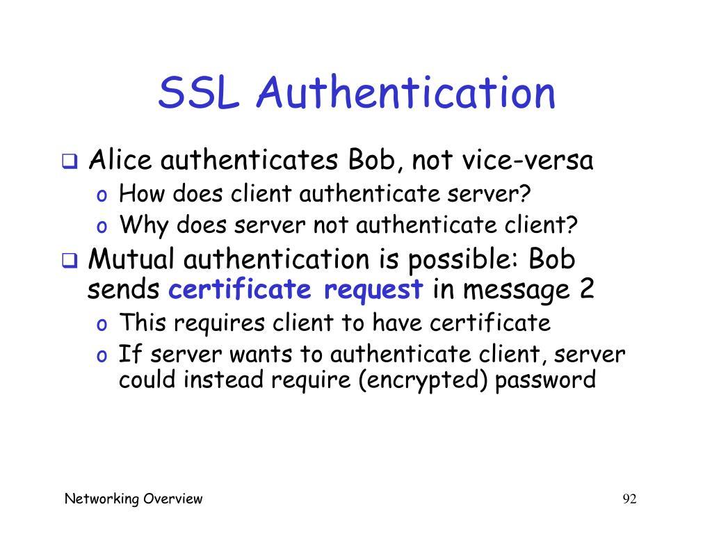 SSL Authentication
