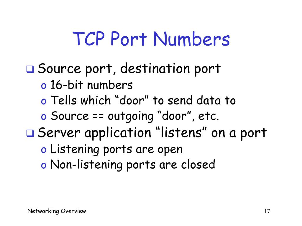 TCP Port Numbers
