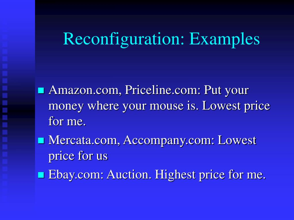 Reconfiguration: Examples