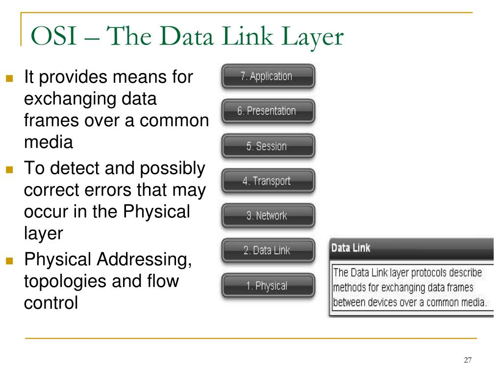 OSI – The Data Link Layer