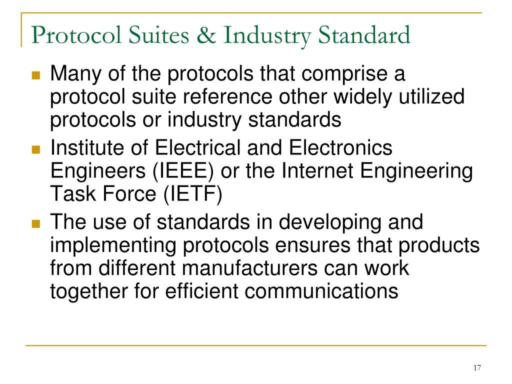 Protocol Suites & Industry Standard