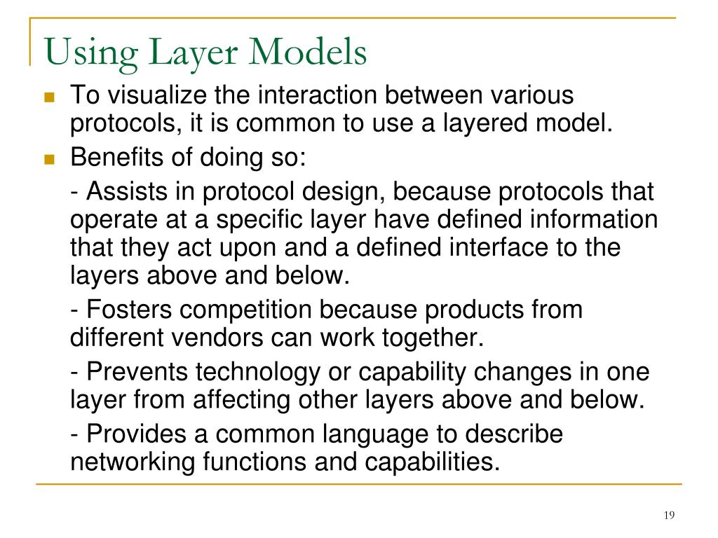Using Layer Models