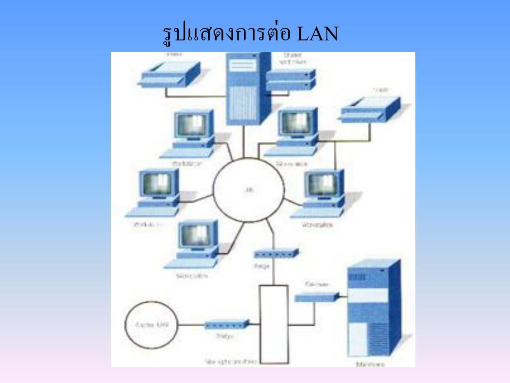รูปแสดงการต่อ LAN