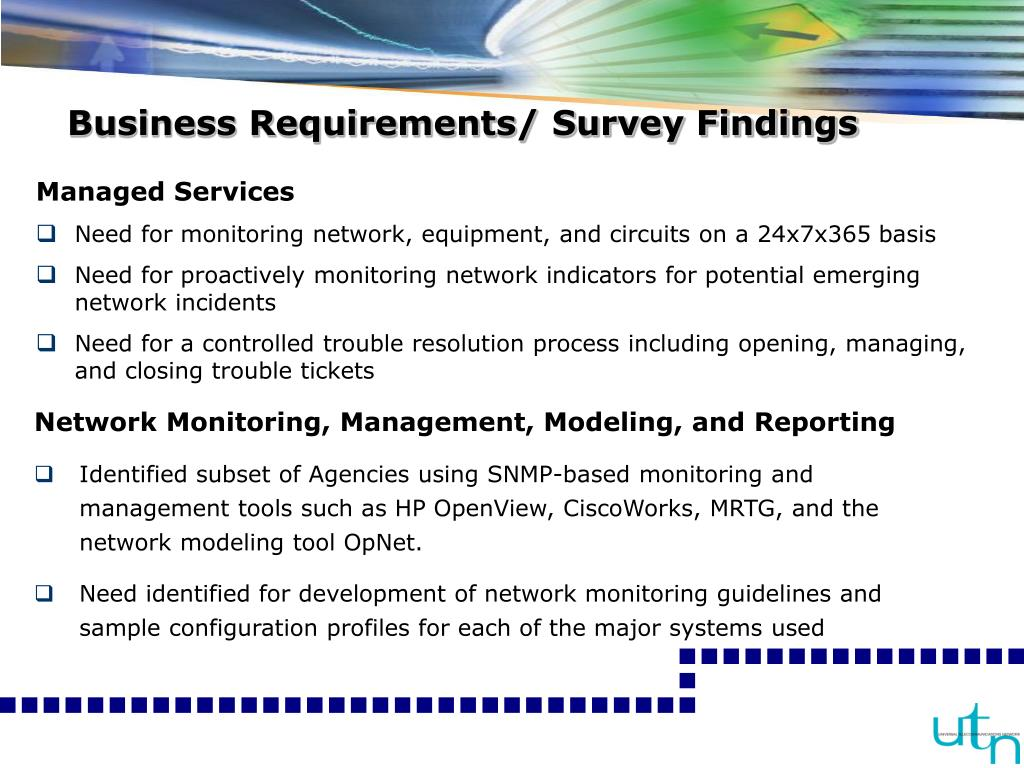 Business Requirements/ Survey Findings