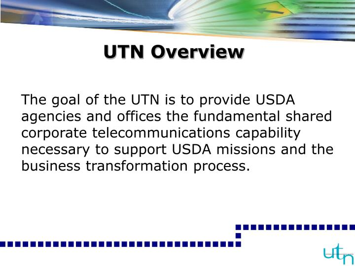 Utn overview