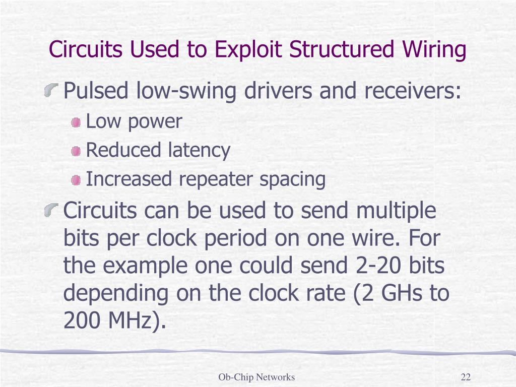 Circuits Used to Exploit Structured Wiring