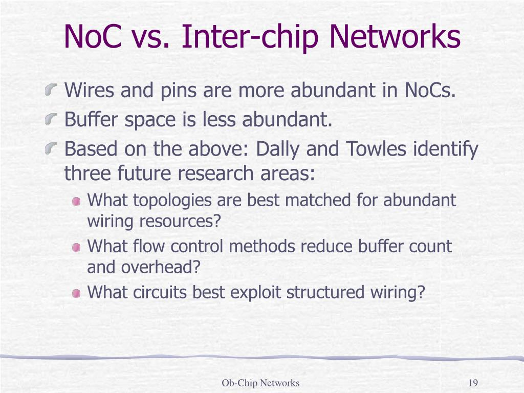 NoC vs. Inter-chip Networks