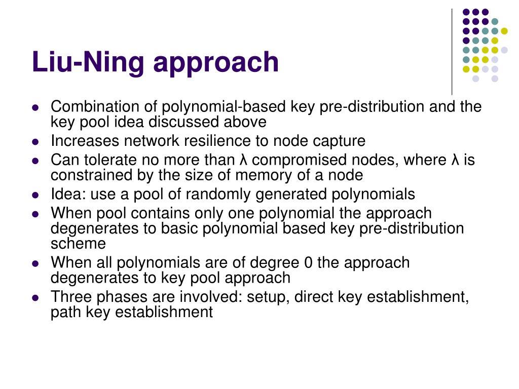 Liu-Ning approach