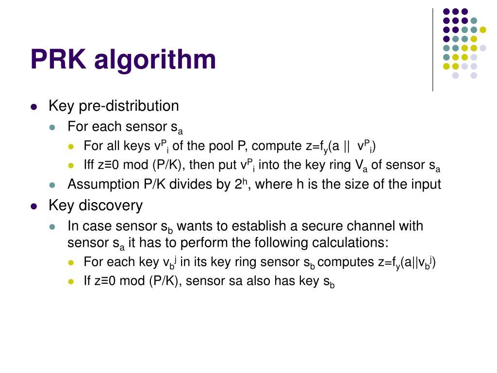 PRK algorithm