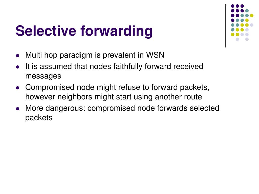 Selective forwarding