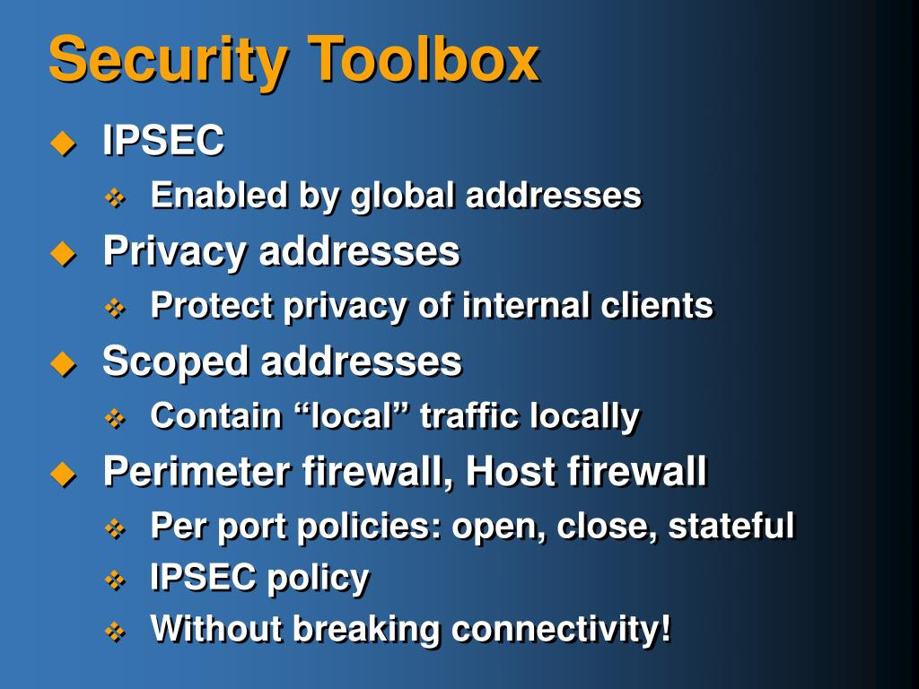 Security Toolbox