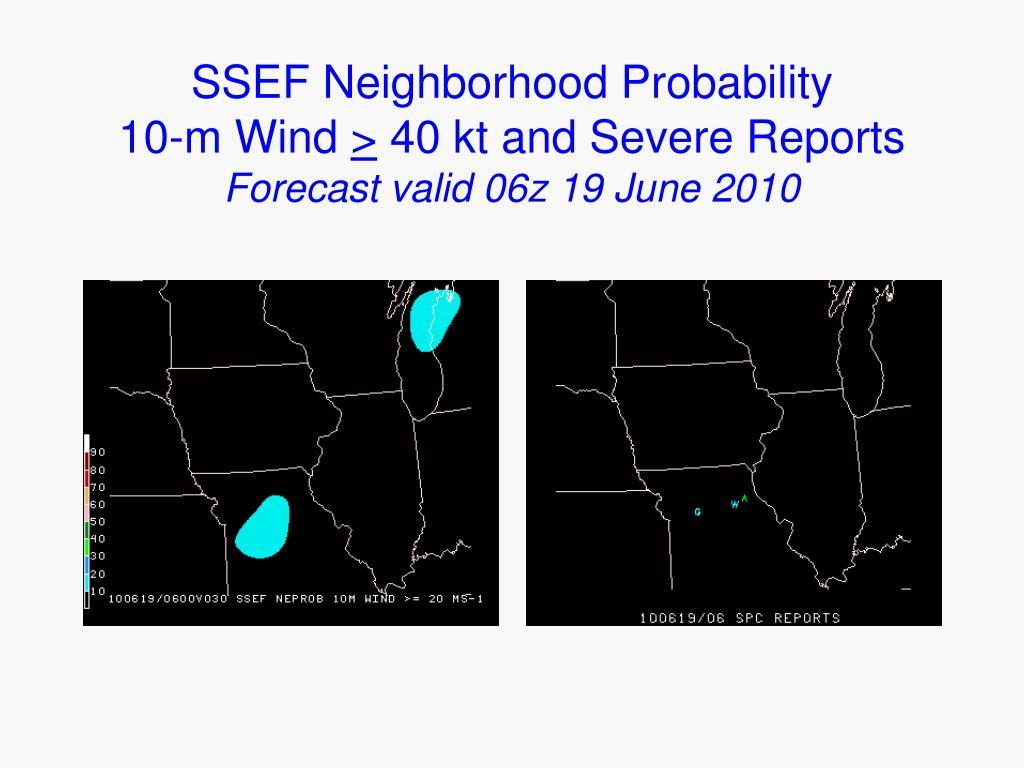 SSEF Neighborhood Probability            10-m Wind