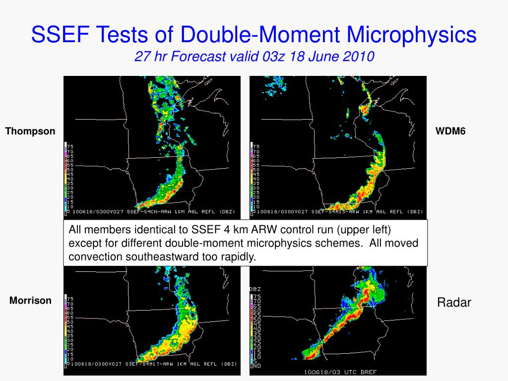 SSEF Tests of Double-Moment Microphysics