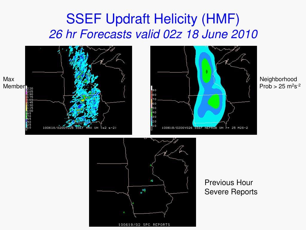 SSEF Updraft Helicity (HMF)