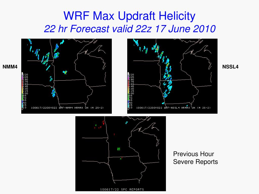 WRF Max Updraft Helicity