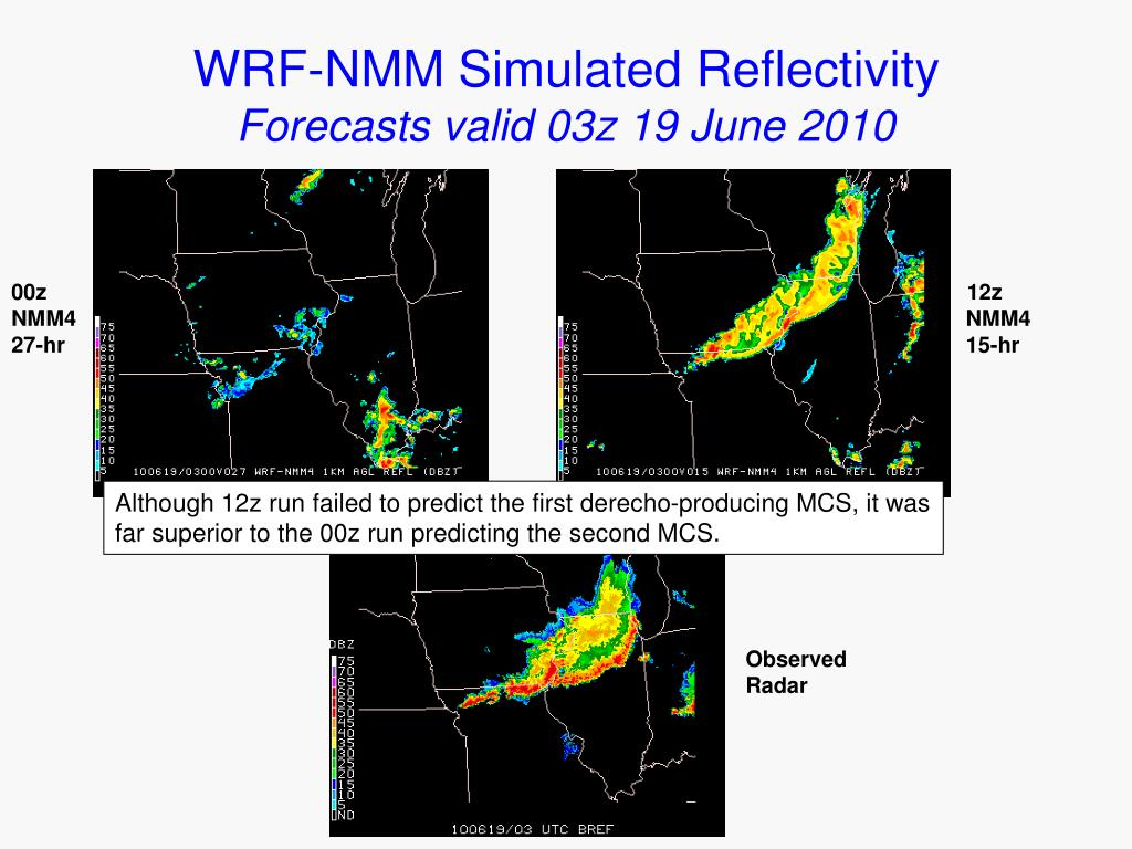 WRF-NMM Simulated Reflectivity