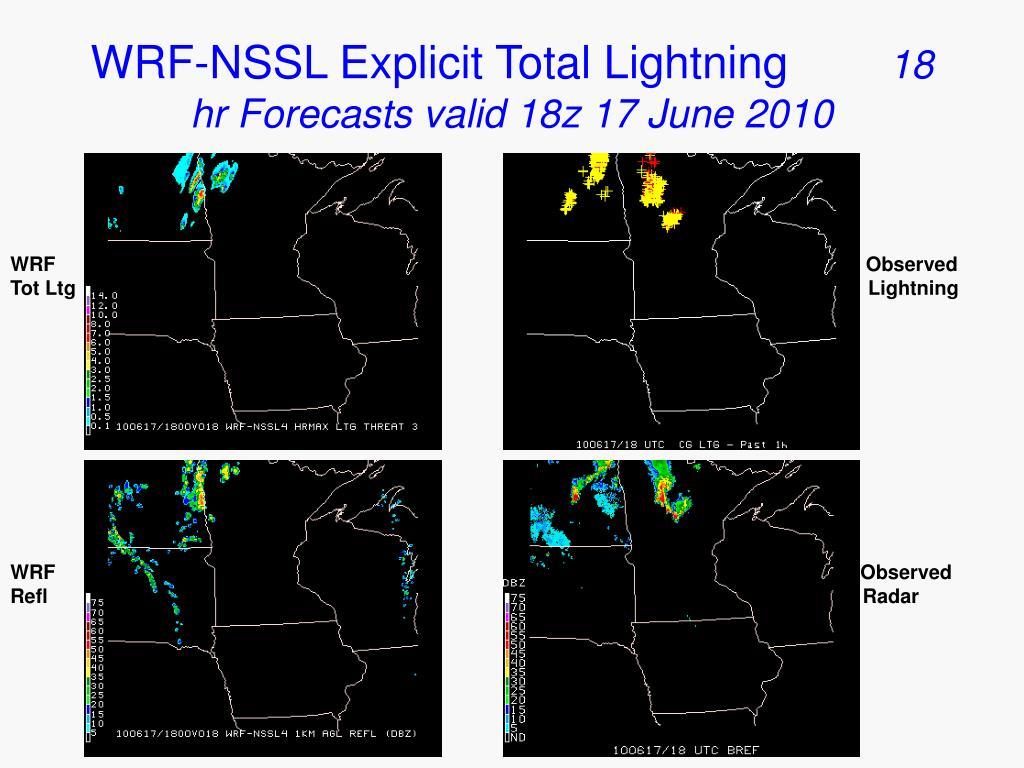 WRF-NSSL Explicit Total Lightning