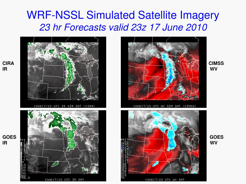 WRF-NSSL Simulated Satellite Imagery