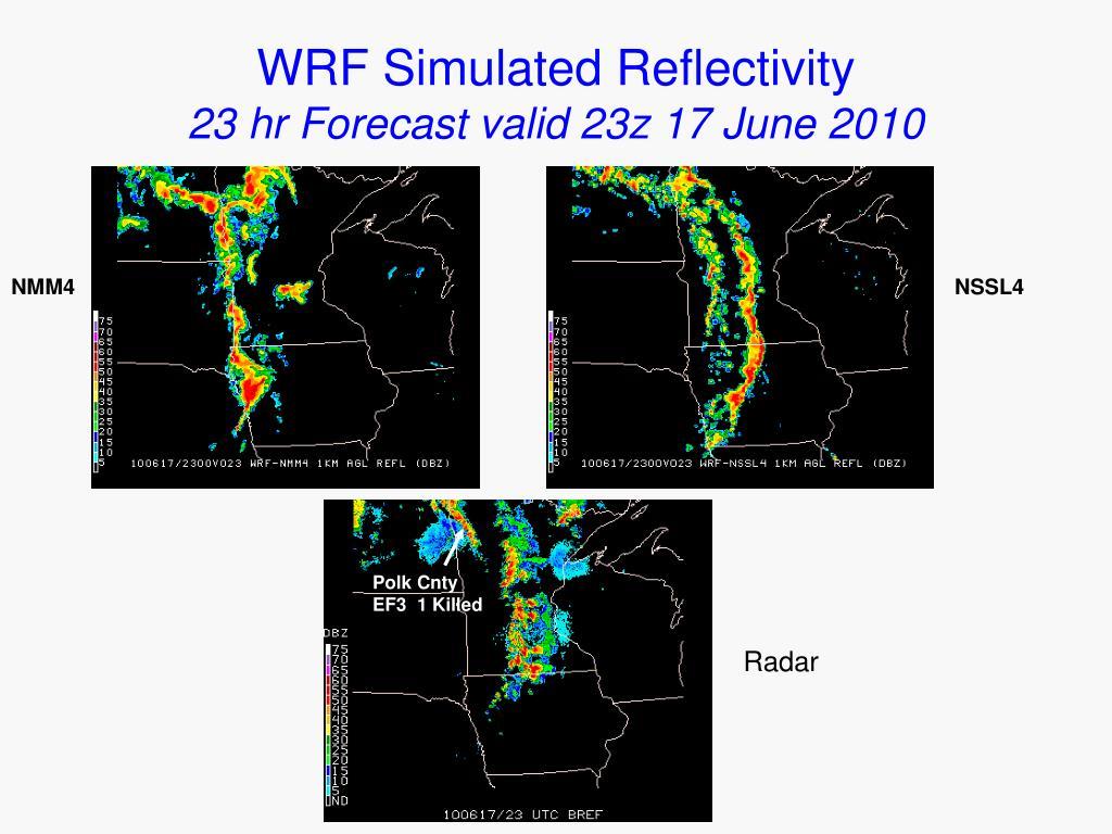 WRF Simulated Reflectivity