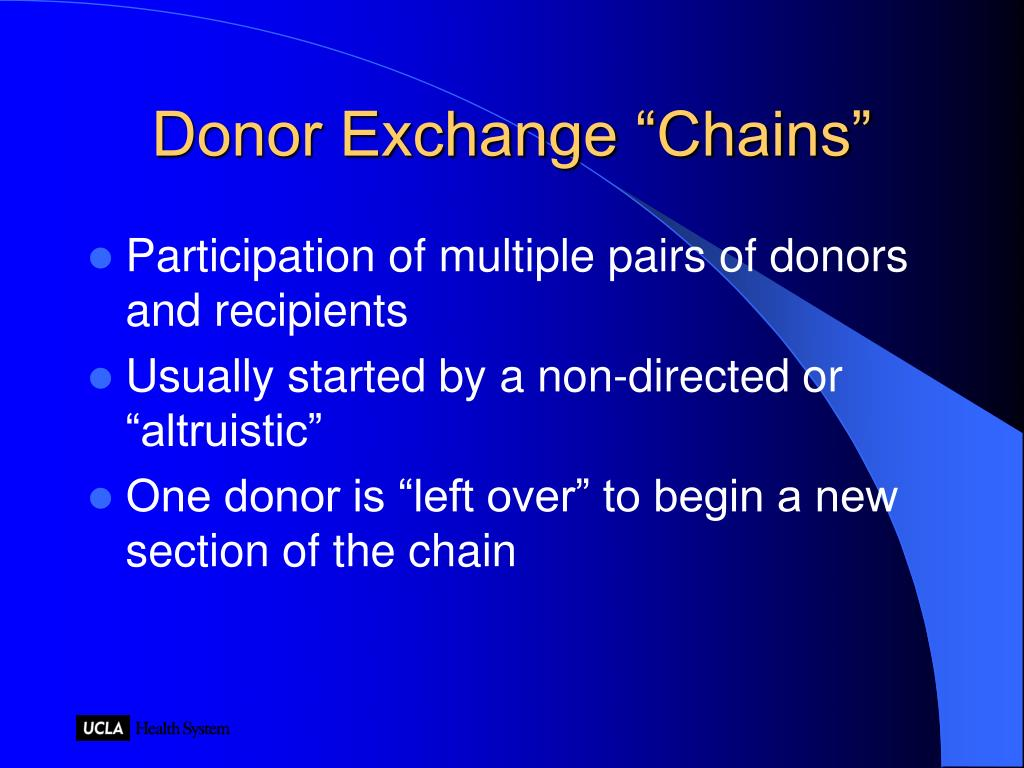"Donor Exchange ""Chains"""