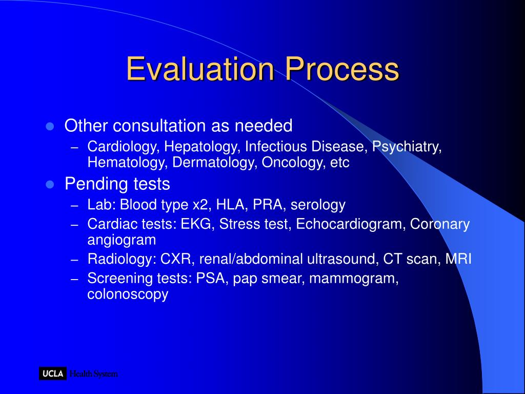 Evaluation Process