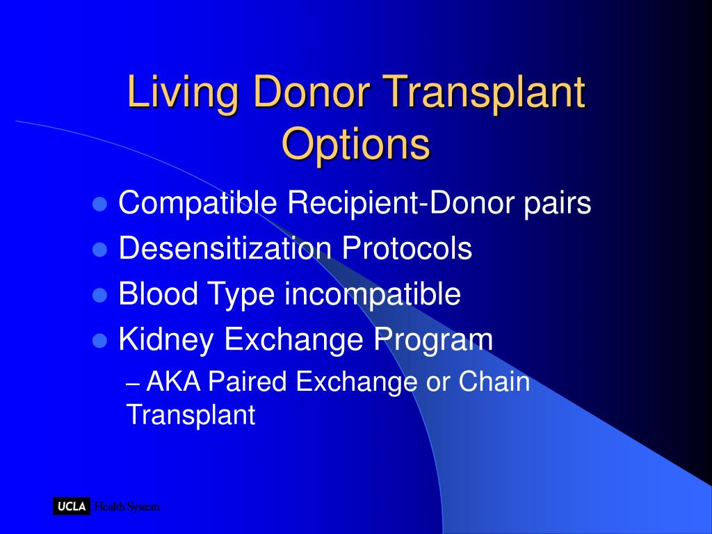 Living Donor Transplant Options