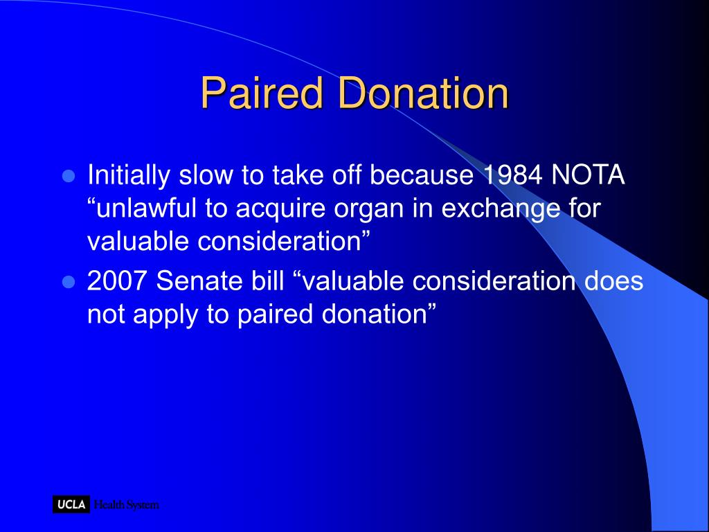 Paired Donation
