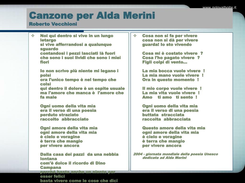Canzone per Alda Merini