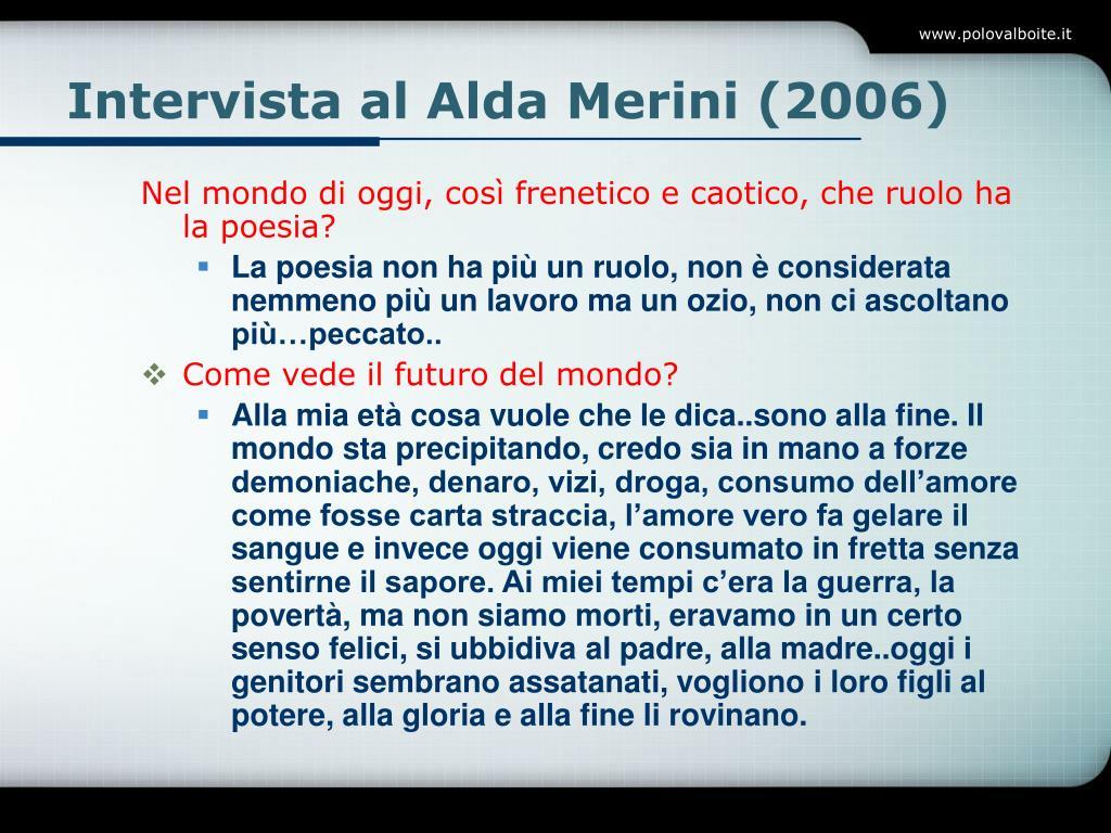 Intervista al Alda Merini (2006)