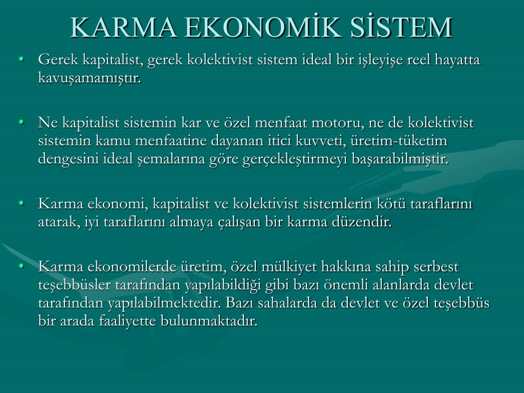 KARMA EKONOMİK SİSTEM