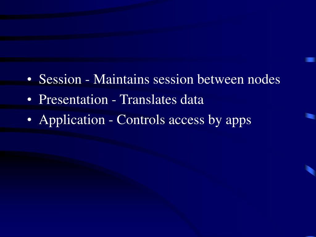 Session - Maintains session between nodes