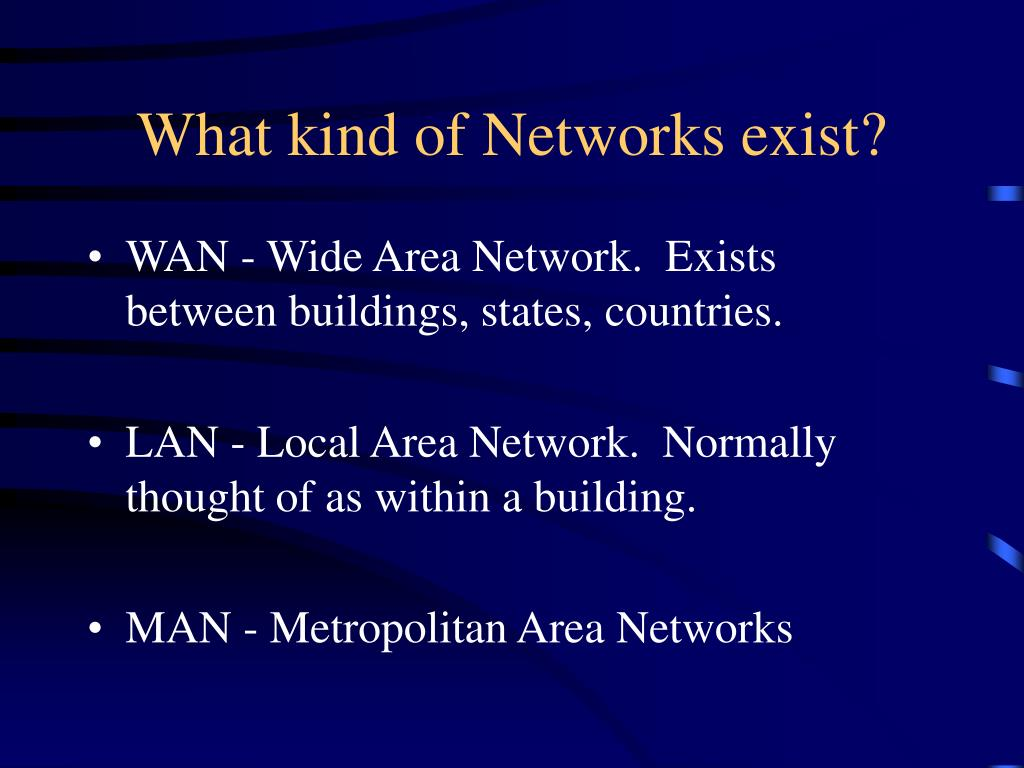 What kind of Networks exist?