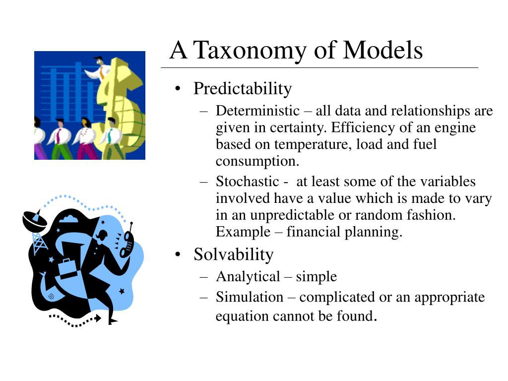A Taxonomy of Models