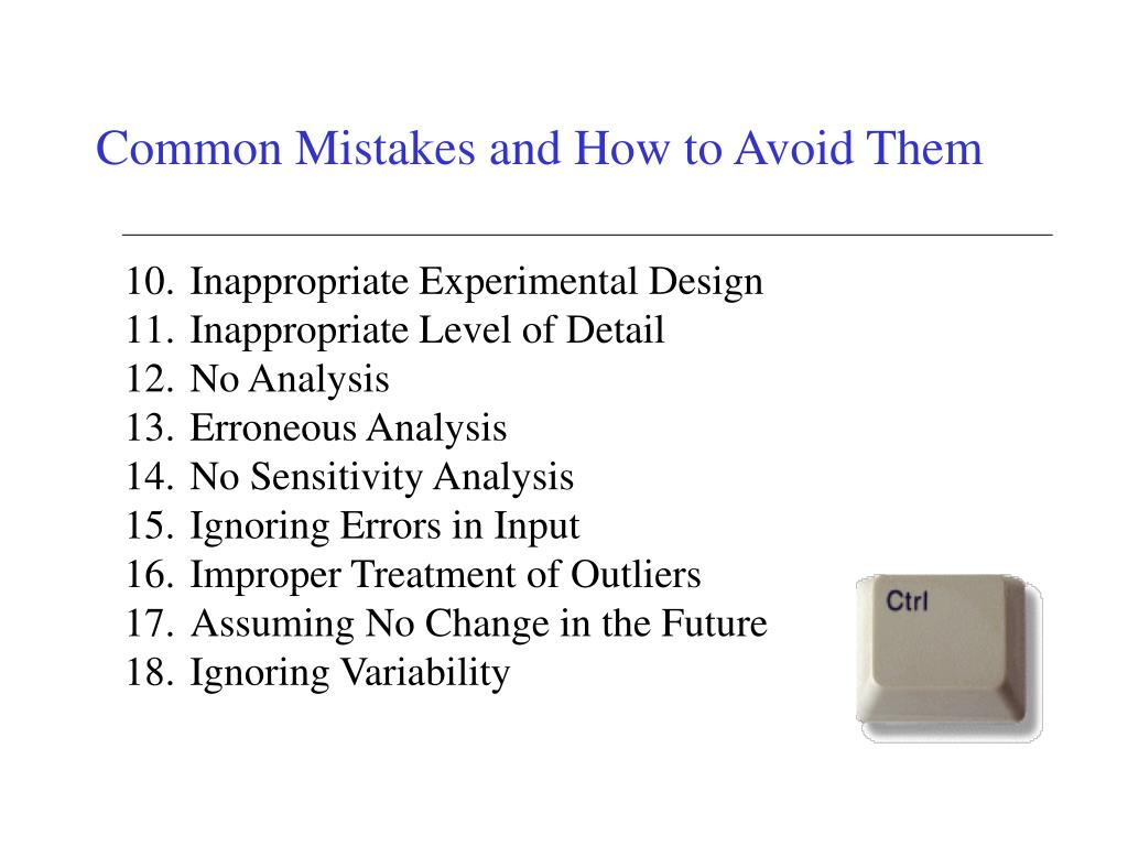 Common Mistakes and How to Avoid Them