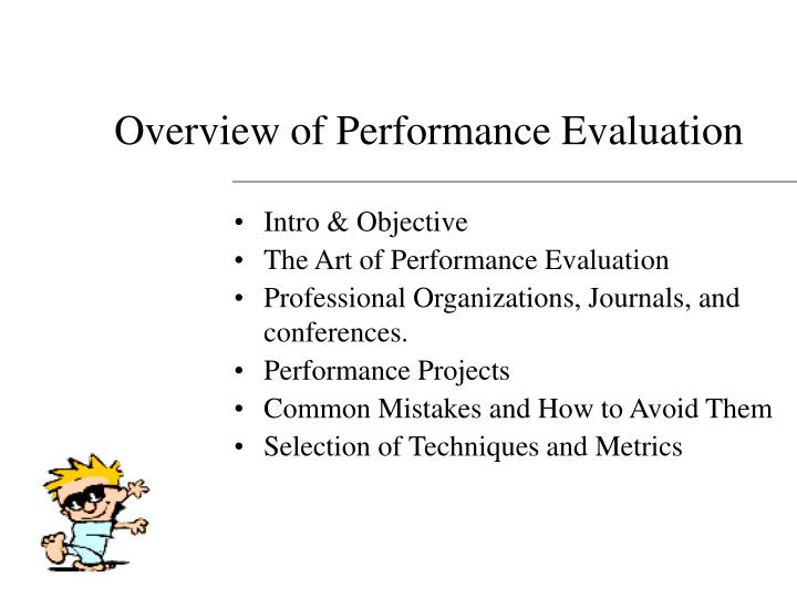 Overview of performance evaluation