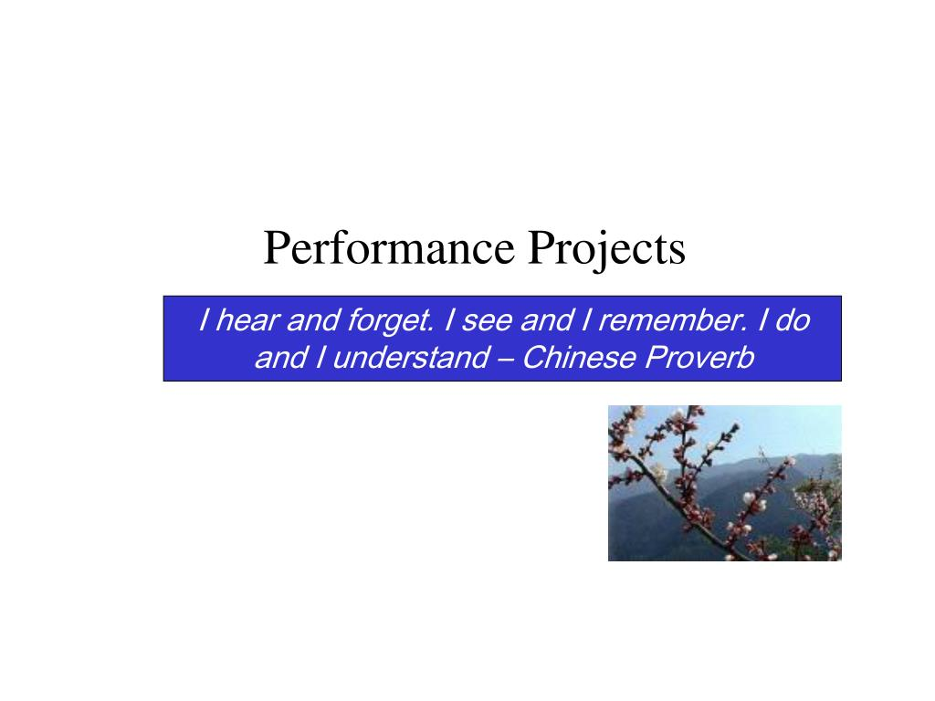 Performance Projects