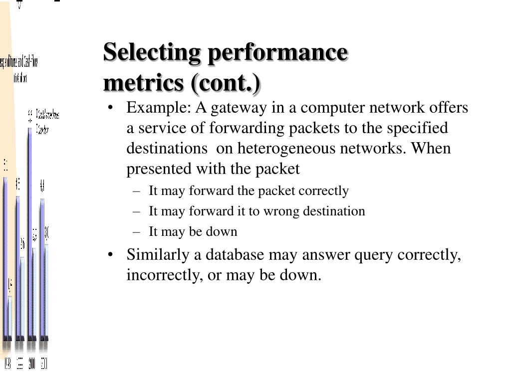 Selecting performance metrics (cont.)