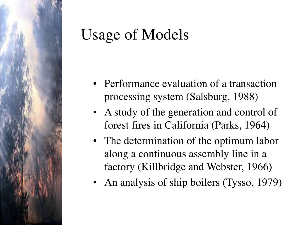 Usage of Models