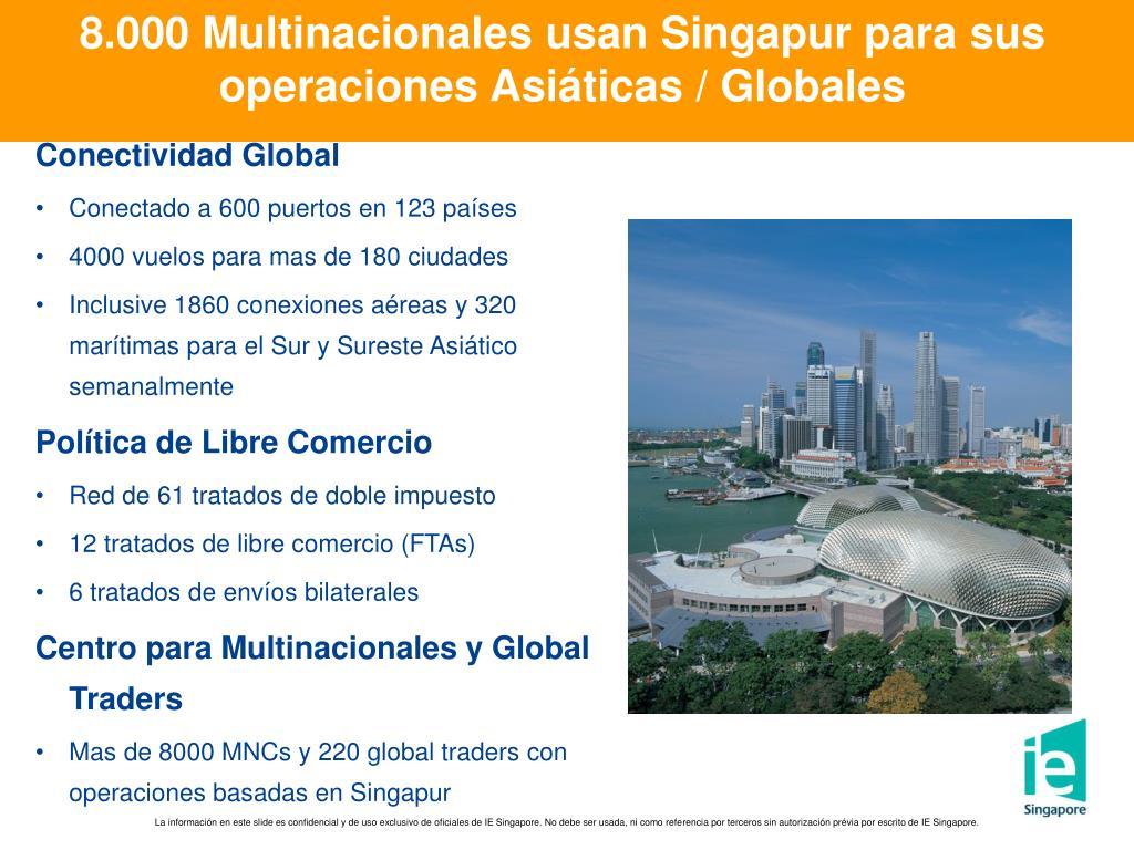 8.000 Multinacionales usan Singapur para sus operaciones Asiáticas / Globales