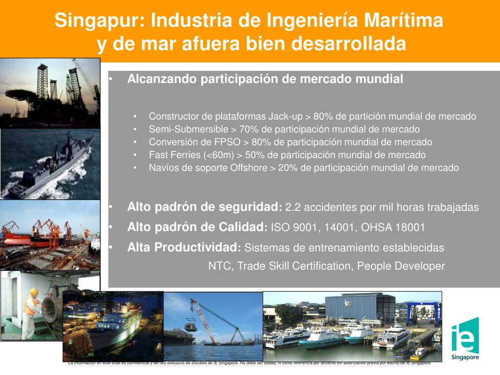 Singapur: Industria de Ingeniería Marítima