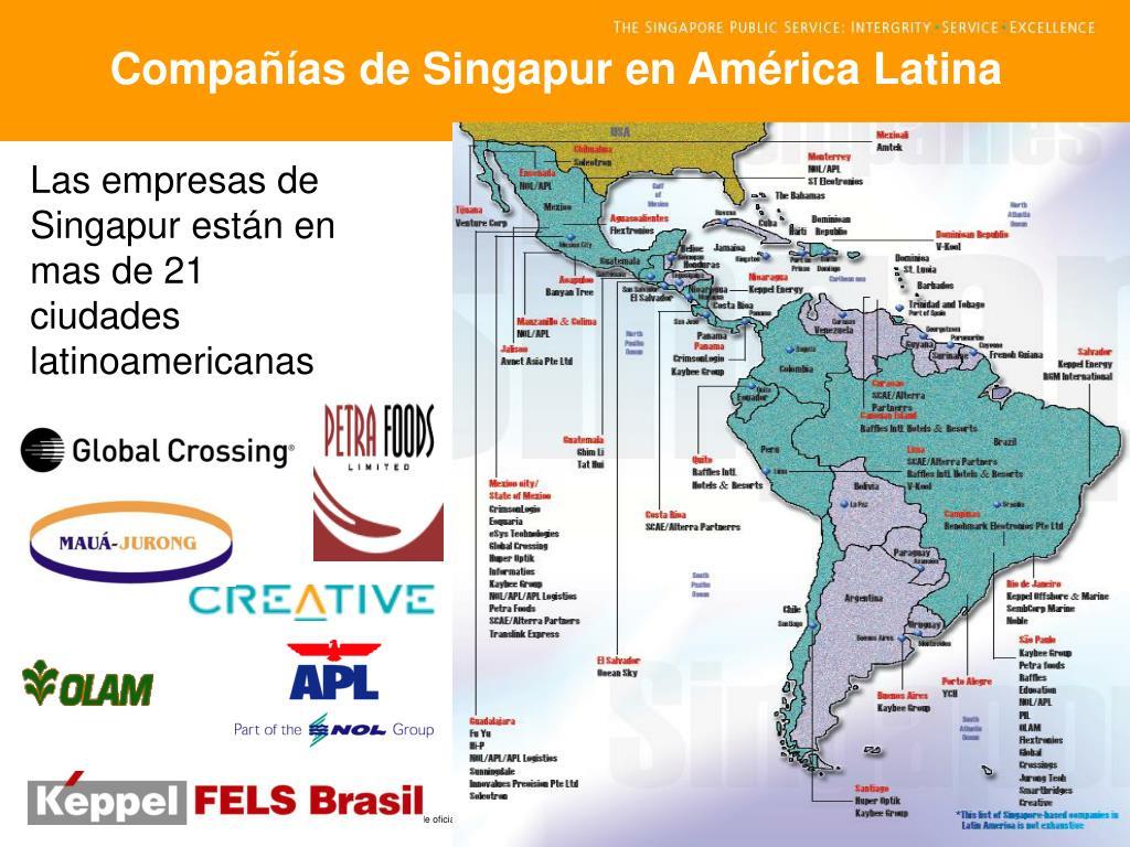 Compañías de Singapur en América Latina