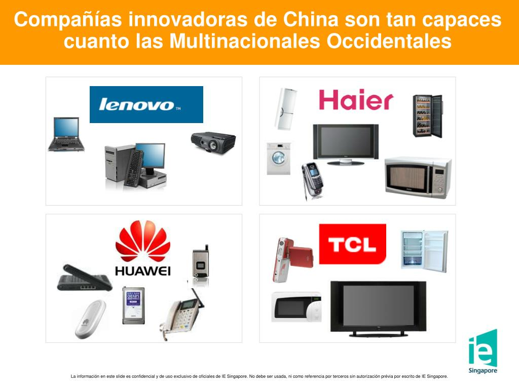 Compañías innovadoras de China son tan capaces cuanto las Multinacionales Occidentales